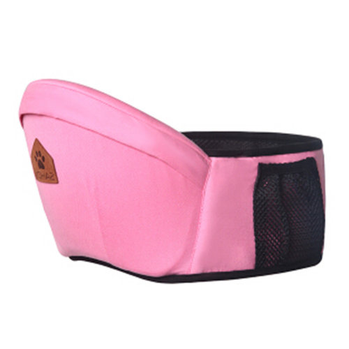 Baby Carrier Single Waist Stool Hip Seat Carrier,Pure Cotton Baby Carrier Pink