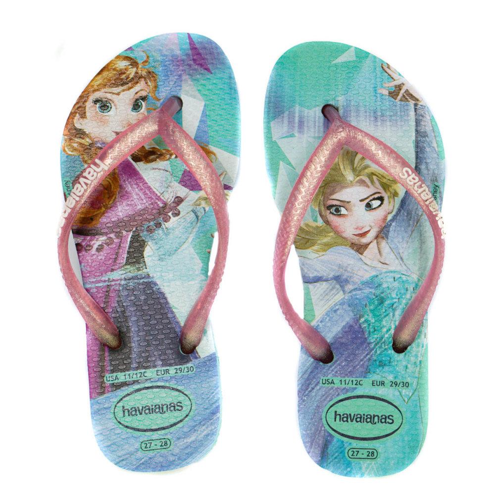 8efc96f72 ... Havaianas Girls Frozen Flip Flops Size 10 11 - 1.