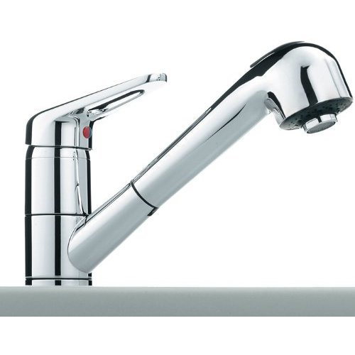 Franke 115.0029.709 Chrome Finish Kitchen Tap With A Pull Out Spout - Grey (1-Piece)