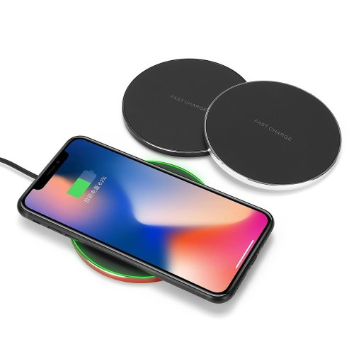 Bakeey Aluminum QI Wireless Fast Charger Charging Dock Pad Mat Phone For iPhone XS XR X