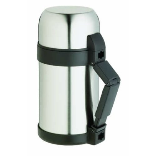 1l Master Class Stainless Steel Vacuum Soup Food Flask - 1 Litre 175 Pints -  stainless steel 1 litre vacuum flask food master class 175 pints
