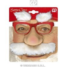 Santa Glasses Withnose Tash Eyebrows Dress-up Novelty Glasses Specs & Shades - -  glasses santa eyebrows tash withnose dressup novelty specs shades