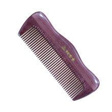Anti-static Smooth Hair Comb Wooden Comb Combs Hair Accessarries, Purple
