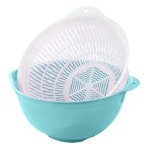 Multifunction Living Room Fruit-Plate Kitchen Vegetable Plate Drain Basket #04
