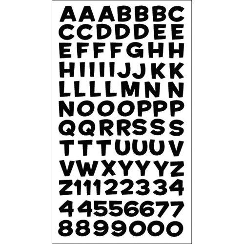 Sticko Alphabet Stickers-Fun House Black Metallic