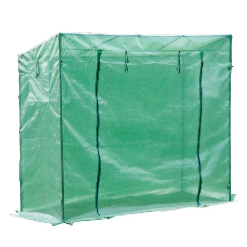 Outsunny Greenhouse with PE Plant Cover (198L x 77W x 149-168H (cm))