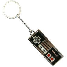 NINTENDO ORIGINAL Enamelled Metal NES Controller Keychain (KE138750NTN)