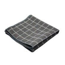 2 Pieces Of Cotton Hand Towel Handkerchief Pocket Towel, GRAY Plaid