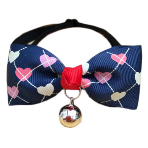 England Style Pet Collar Tie Adjustable Bowknot Cat Dog Collars with Bell-A13