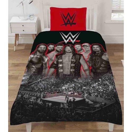 WWE Ring Duvet Quilt Cover Reversible Set
