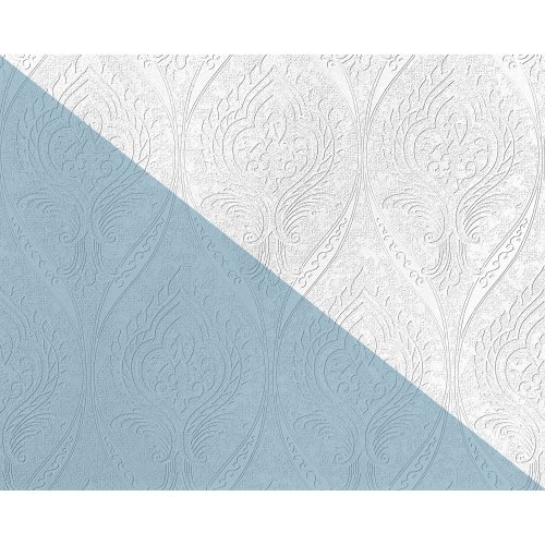 EDEM 83007BR60 Baroque paintable non-woven wallcovering wall matt white 26.50 m2