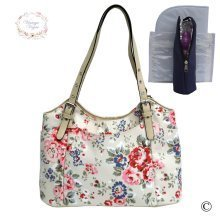 Vintage Vogue Classic Cream Floral Baby Changing Bag