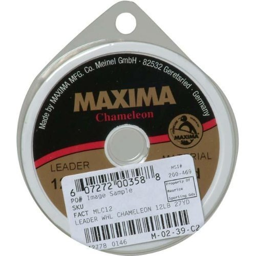Maxima Fishing Line Leader Wheel, Chameleon, 10-Pound/27-Yard