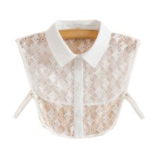 Trendy Detachable Lace Collar Fake Collar All-match Fake Half Shirt for Women, #11