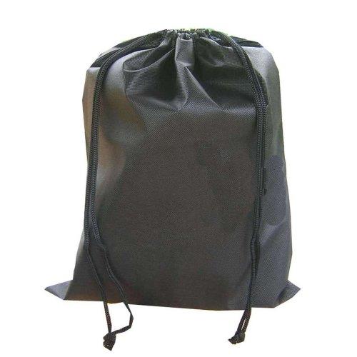 Solid Black Football Bag Accessory Bag Storage Drawstring Bag 44*33.5cm