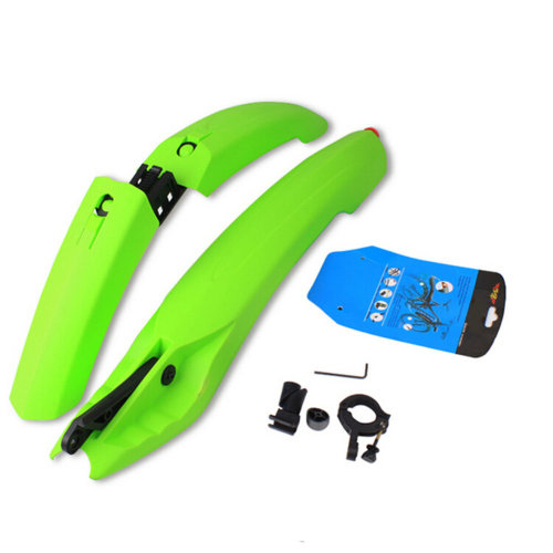 """[GREEN]Colourful Easy Installation Bicycle Fender with Taillight,22"""""""