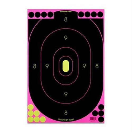 Birchwood Casey 34635 ShootNC Pink 12 in. x 18 in. Silhouette Tgt-5