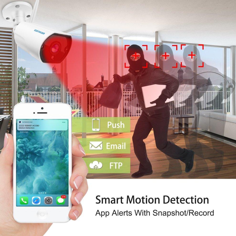 IP Camera,SZSINOCAM 1080P HD Wireless Security Camera Outdoor,Waterproof  Surveillance CCTV camera Night Vision With Two-Way Audio,Motion