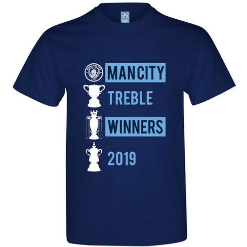 Manchester City FC Mens Trebble Winners T-Shirt