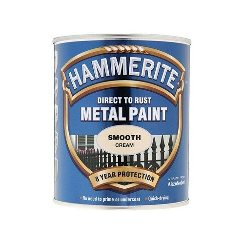 Hammerite SFCR750 Direct to Rust Smooth Finish Metal Paint Cream 750ml
