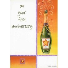 On your First Anniversary Greeting Card