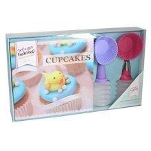 Get Baking Cupcakes Recipe Book Gift Set In Gift Box. - Cupcake Accessories -  baking cupcake recipe book gift set accessories moulds lets get