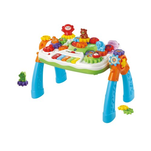 Vtech GearZooz Gear Up and Go Toddler Activity Table Teaches Songs, Colours, Animals, Vocabulary Includes 16 Gears and 5 Piano Keys Ages 18-36 Months