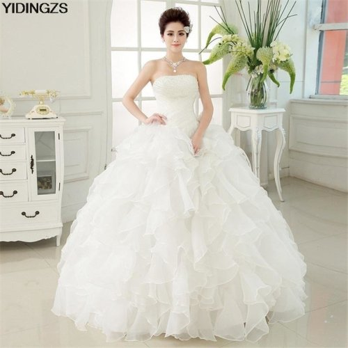 Romantic Red Wedding Dress Sweetheart Organza Pearls Ruched Wedding Dresses Beautiful Party Ball Gown
