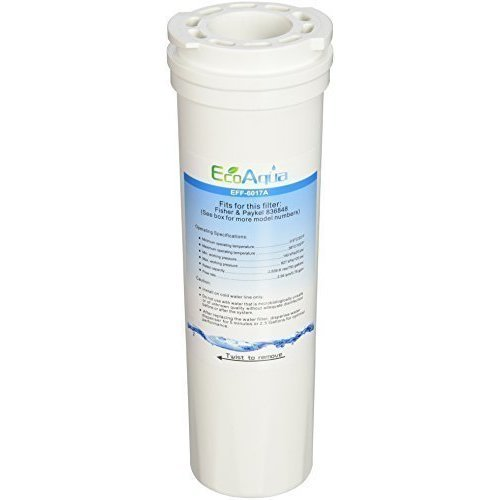 1 x EcoAqua EFF-6017A Ice & Water Refrigerator Filter for Fisher & Paykel 836848