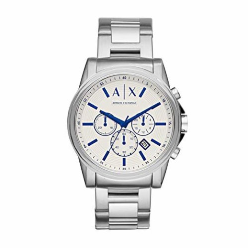Armani Exchange AX2510 Men Chronograph White Dial Stainless Steel