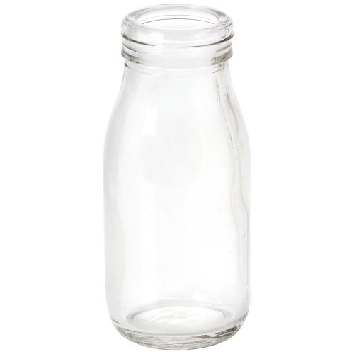 Stalwart CB0063 Mini Glass Milk Bottle, 100 mL (Pack of 6)