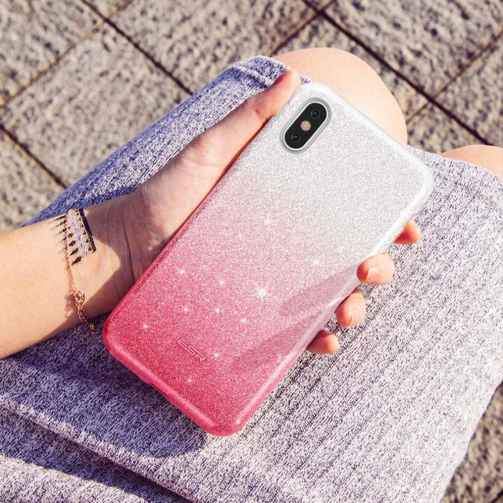 4625852cf5 ... ESR iPhone X Case, Makeup Luxury Glitter Case Sparkle Bling Designer  Cover[Three Layer. >