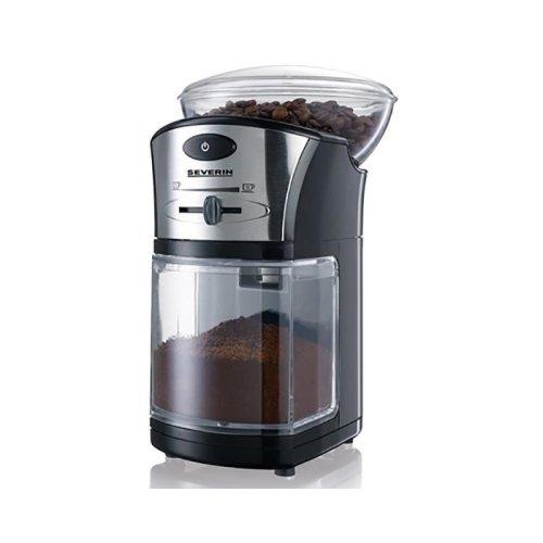 Severin Electric Filter Coffee Grinder 100g Adjustable Level KM3874 Black/Silver