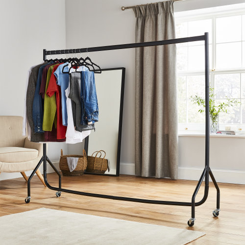 6ft Long x 5ft Tall Quality Heavy Duty Clothes Rail Black