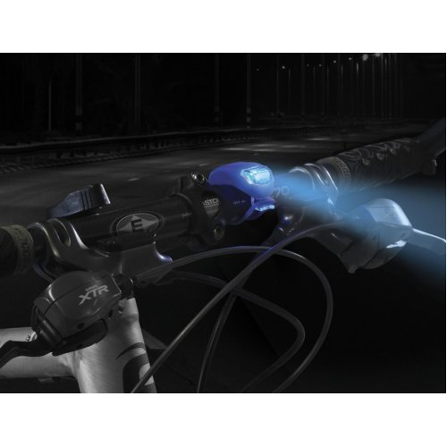 Blue Multifuction Silicone Bicycle Blue LED Light Twin Pack