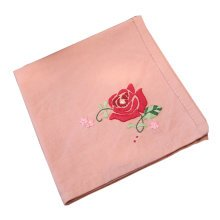 Chinese Style DIY Embroidery Handkerchief Kit Special Gifts (Rose Pattern)
