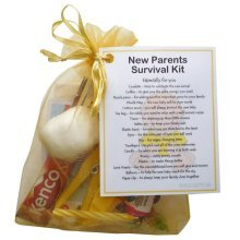 New Parents Survival Kit (Yellow) - A sweet gift for parents-to-be / baby shower