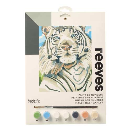Reeves Painting By Numbers-White Tiger