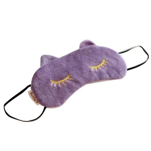 Lovely Eye Mask Soft Eyeshade Great Gift Blindfold Shade Cover For Sleep[Purple]
