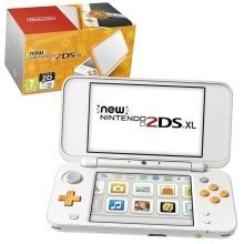 New Nintendo 2DS XL Handheld Console - White and Orange - Nintendo 3DS