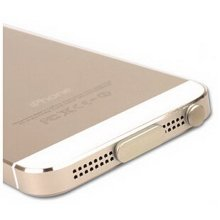 Modern Stylish Data Tail & Headset Dust Plug For iphone5s GOLDEN