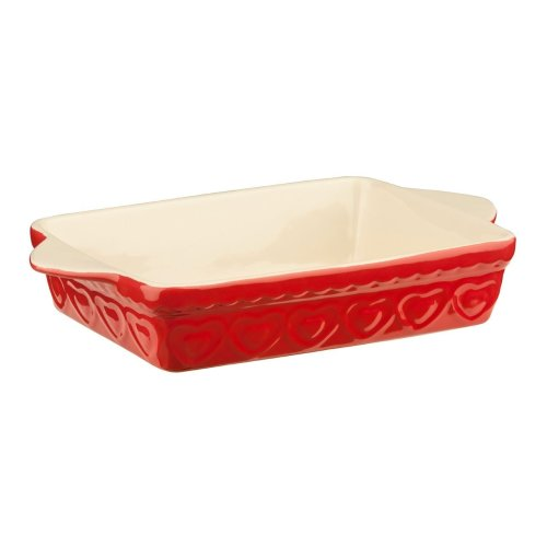 Sweet Heart Baking Dish, Rectangular - Red