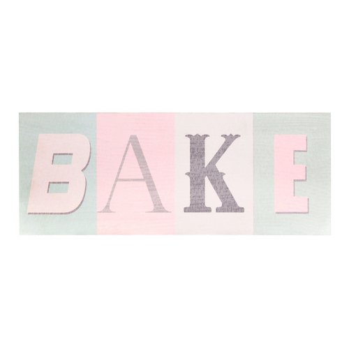 Bake Wall Plaque, MDF - Multi-coloured