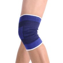 Blue High Elastic Knee Sleeve Support Brace, M, (a Pair)