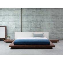 Light Brown Wooden Platform Waterbed 180 x 200 cm ZEN