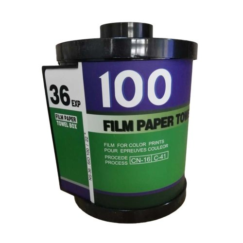 Retro Film-Shaped Tissue Holder Toilet Paper Box Cover Green
