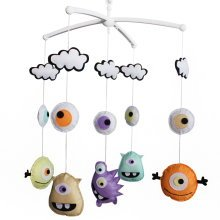 Colorful Decor Crib Mobile, [Monster] Handmade Baby Toy, Cute Gift