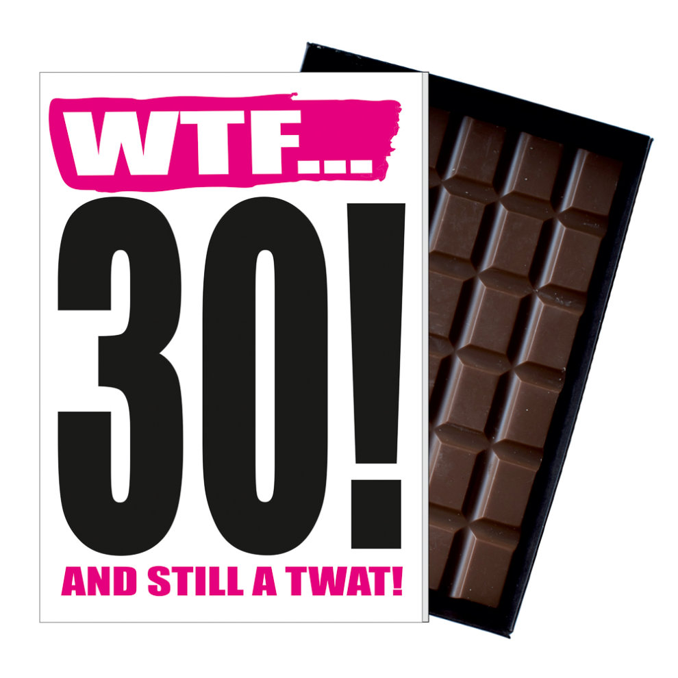 Funny 30th Birthday Gift Rude Naughty Present For Him Or Her 85g Chocolate Card On OnBuy