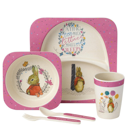 Peter Rabbit Flopsy Bunny Dinner Set Plate Bowl Cup New Baby Christening Gift