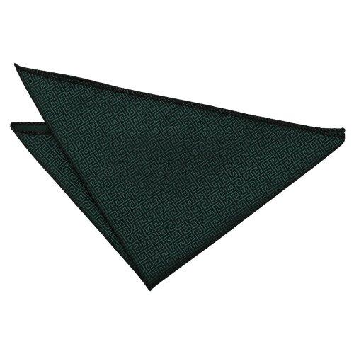Dark Green Greek Key  Pocket Square